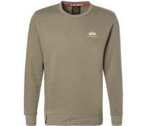 Sweatshirt, Baumwolle, oliv