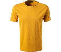 T-Shirt, Baumwolle, senf