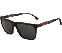 Brillen Sonnenbrille, Kunststoff, -khaki meliert
