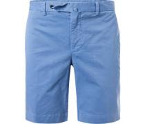 Hose Shorts, Baumwolle, azur