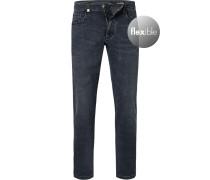 Jeans, Modern Fit, Baumwoll-Stretch, nacht