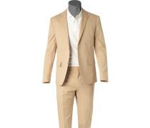 Anzug, Fitted, Baumwoll-Stretch