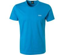 T-Shirt, Regular Fit, Baumwolle, azur