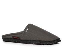 Schuhe Pantoffeln, Textil, anthrazit meliert