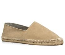 Schuhe Espadrilles, Veloursleder