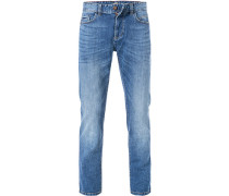 Jeans, Straight Fit, Baumwoll-Stretch, denim