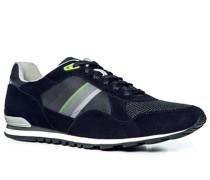 Schuhe Sneaker, Leder-Textil, dunkel