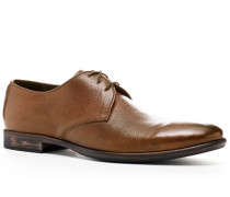 Schuhe Derby, Kalbleder, cognac