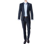 Anzug, Slim Fit, Schurwolle, nacht
