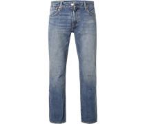 Jeans 527, Slim Fit, Baumwoll-Stretch, hell