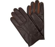 Handschuhe, Ziegenleder, dunkelbraun