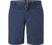 Hose Shorts, Regular Fit, Baumwolle, marine