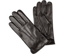 Handschuhe, Leder, dunkekl
