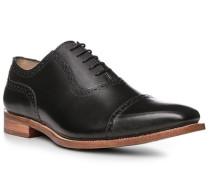 Schuhe Brogue, Leder, nero