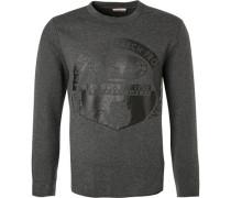 Sweatshirt, Baumwolle, anthrazit meliert