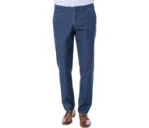 Jeans Chino, Modern Fit, Baumwoll-Stretch, dunkel