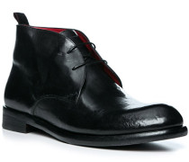 Schuhe Desert Boots, Leder, nero