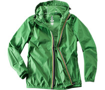Regenjacke, Regular Fit, Mikrofaser, hell