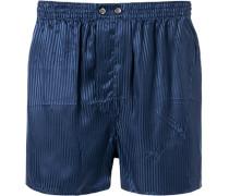 Unterwäsche Boxershorts, Seide, marine gestreift
