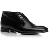 Schuhe Schnürstiefelette, Kalbleder glatt, nero
