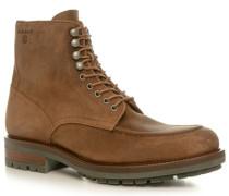 Schuhe Stiefeletten, Veloursleder, hell