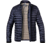 Steppjacke, Casual Fit, Mikrofaser, navy
