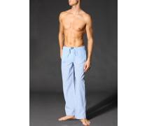 Pyjamahose, Baumwolle, hell-weiß kariert