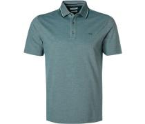 Polo-Shirt, Baumwoll-Piqué, see meliert