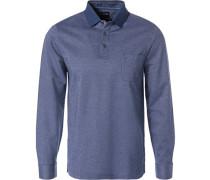 Polo-Shirt, Modern Fit, Baumwoll-Piqué,  meliert