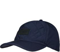 Cap, Mikrofaser wattiert, navy
