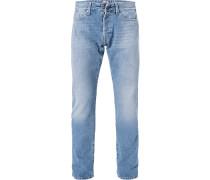 Jeans Waitom, Regular Slim Fit, Baumwolle, hell