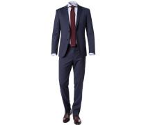 Anzug, Slim Fit, Schurwoll-Stretch, dunkel meliert