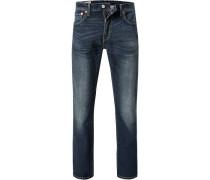 Jeans 527, Slim Fit, Baumwoll-Stretch, nacht