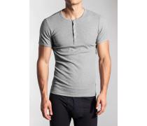 T-Shirt, Doppelripp,  meliert