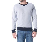 Sweatshirt, Baumwolle, silber