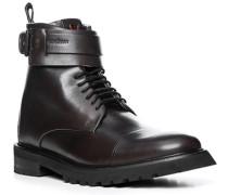 Schuhe Stiefeletten, Glattleder, testa di moro