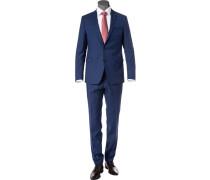 Anzug, Sharp Fit, Schurwolle S100, royal
