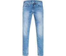 Jeans Hatch, Slim Fit, Baumwoll-Stretch, hell