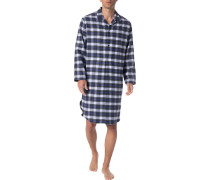 Nachthemd, Baumwolle, -grün kariert