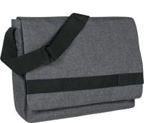 Messenger Bag, Microfaser,  meliert