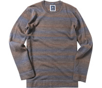 Pullover, Modern Fit, Schurwolle, -blau gestreift
