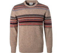 Pullover, Wolle, multicolour gemustert