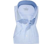 Kurzarmhemd, Regular Fit, Baumwolle, bleu