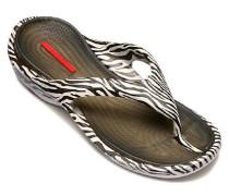 Schuhe Zehensandale Beach, Gummi, schwarz-weiß
