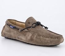 Schuhe Mokassins Veloursleder sand