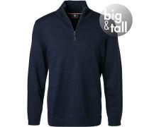 Pullover Troyer, Big&Tall, Schurwolle, marine
