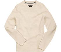 Pullover, Baumwolle, creme