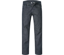 Jeans, Classic Fit, Baumwoll-Stretch, nacht