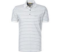 Polo-Shirt, Baumwoll-Jersey, woll gestreift