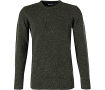 Pullover, Wolle-Seide, moos meliert